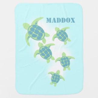 Meeresschildkröten mit Namen Baby-Decken