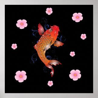 Meereswelt-Fische Koi Poster