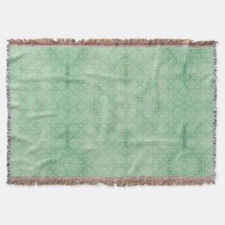 Meergrün-Damast-Druck Decke