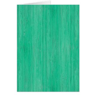 Meergrün-hölzerner Korn-Bambusblick Karte