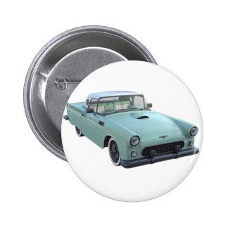 Meergrünfünfziger jahre Sport-Auto Runder Button 5,1 Cm