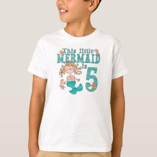 Meerjungfrau-5. Geburtstag T-Shirt