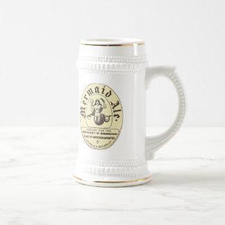 Meerjungfrau-Ale-Vintager Bier-Aufkleber Stein Bierglas