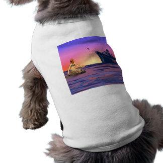 Meerjungfrau am Sonnenuntergang Shirt