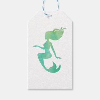 Meerjungfrau-Aquarell Geschenkanhänger