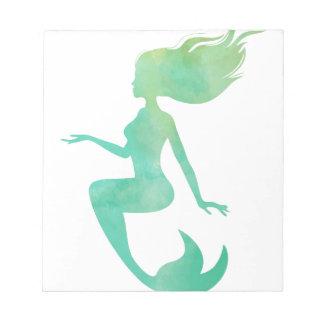 Meerjungfrau-Aquarell Notizblock