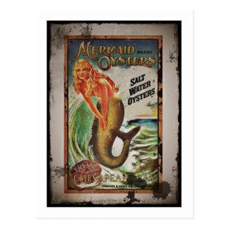 Meerjungfrau-Austern-Mädchen Postkarte