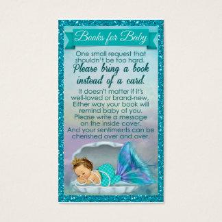 Meerjungfrau-Baby-Buch-Antrag fügt Babyparty #130 Visitenkarte