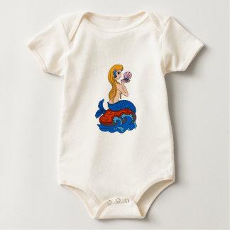 Meerjungfrau Baby Strampler