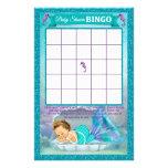 Meerjungfrau-Babyparty-Bingo-Spiel-Karte #130 14 X 21,6 Cm Flyer