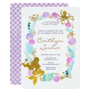 Meerjungfrau-Babyparty-Einladung 12,7 X 17,8 Cm Einladungskarte