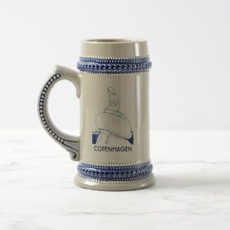 Meerjungfrau-Blau-Skizze Kopenhagens Dänemark Bierglas