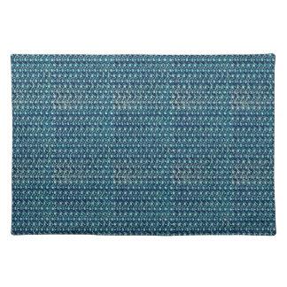 Meerjungfrau-blaues Grün-Kettenhemd-metallisches Stofftischset