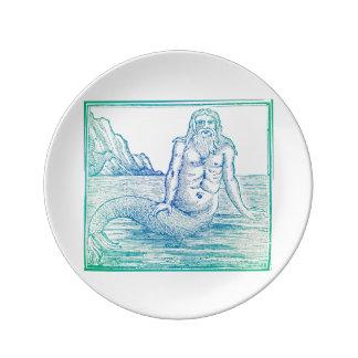 Meerjungfrau der Merman-Vielzahl Teller