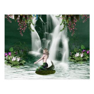 Meerjungfrau-Duschen-Postkarte Postkarte