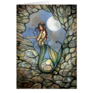 Meerjungfrau-feenhafte Karte Notecard durch Molly