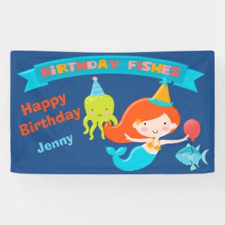 Meerjungfrau-Geburtstag personalisiert Banner