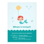Meerjungfrau-Geburtstags-Einladung