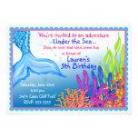 Meerjungfrau-Geburtstags-Einladungen