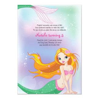 Meerjungfrau-Geburtstags-Einladungs-Karte 12,7 X 17,8 Cm Einladungskarte