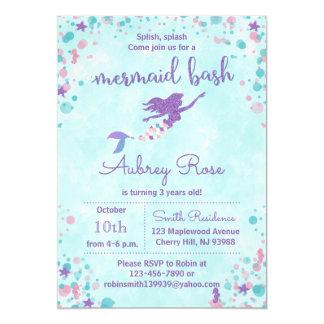 Meerjungfrau-Geburtstags-Party Einladungen -