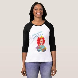 Meerjungfrau-Haar gerade interessieren sich nicht T-Shirt