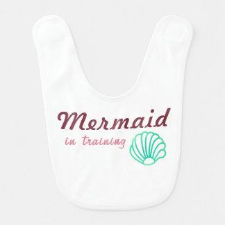Meerjungfrau im Trainings-Baby-Schellfisch Babylätzchen