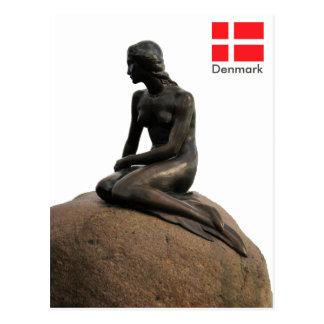 Meerjungfrau in Dänemark Postkarte