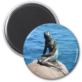 Meerjungfrau in Dänemark Runder Magnet 5,1 Cm
