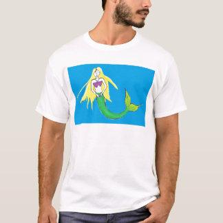 Meerjungfrau in der blauen Kleidung T-Shirt