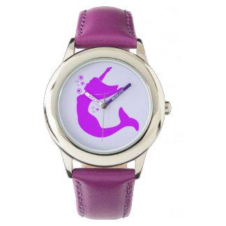Meerjungfrau in der Silhouette Armbanduhr