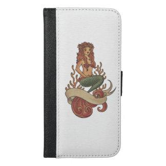 Meerjungfrau iPhone 6/6s Plus Geldbeutel Hülle