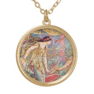 Meerjungfrau-Königin der Fische Vergoldete Kette