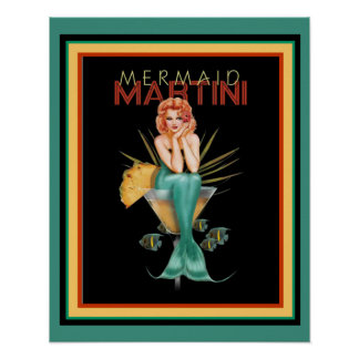 Meerjungfrau Martini 16 x Plakat 20