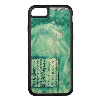 Meerjungfrau-Meergrün beunruhigtes Skript-Aquarell Carved iPhone 8/7 Hülle