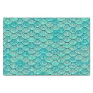 Meerjungfrau-Meergrün-Skalen Seidenpapier