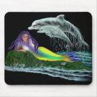 Meerjungfrau mit Delfinen Mousepad
