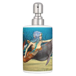 Meerjungfrau mit Delphin Badset