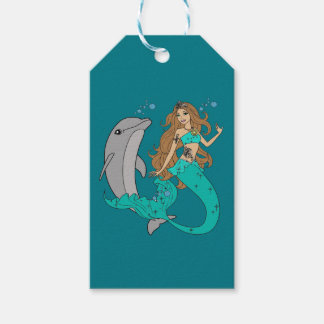 Meerjungfrau mit Delphin Geschenkanhänger