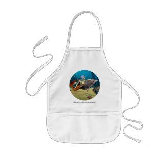 Meerjungfrau mit Delphin Kinderschürze