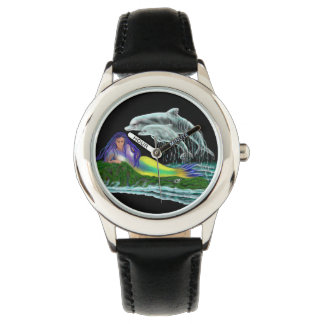 Meerjungfrau mit Delphinen Armbanduhr