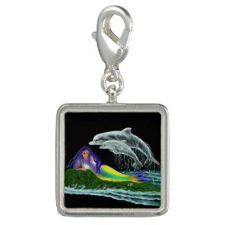 Meerjungfrau mit Delphinen Foto Charms