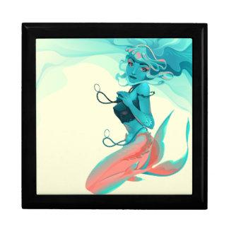 Meerjungfrau mit Juwel-Andenken-Kasten Schmuckschachtel