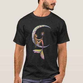 Meerjungfrau-Mond-Fantasie-Kunst-T - Shirt