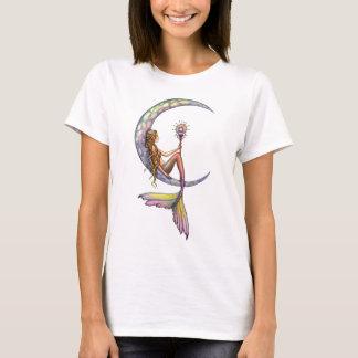 Meerjungfrau-Mond-Fantasie-Kunst-Trägershirt T-Shirt