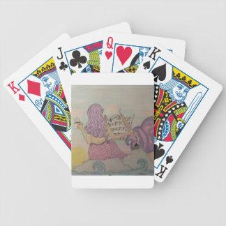Meerjungfrau-Musik Bicycle Spielkarten