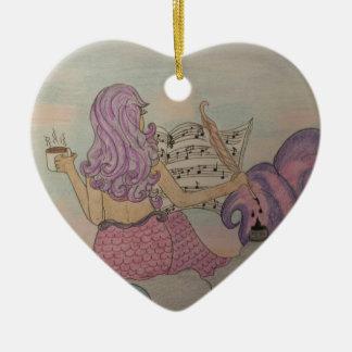 Meerjungfrau-Musik Keramik Ornament