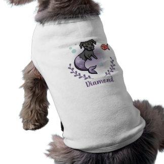 Meerjungfrau-Pitbull 2 mit dem Namen des Shirt
