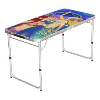 Meerjungfrau-Portaldigital-Sonnenuntergang Beer Pong Tisch