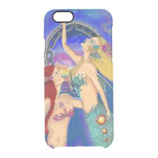 Meerjungfrau-Portaldigital-Sonnenuntergang Durchsichtige iPhone 6/6S Hülle